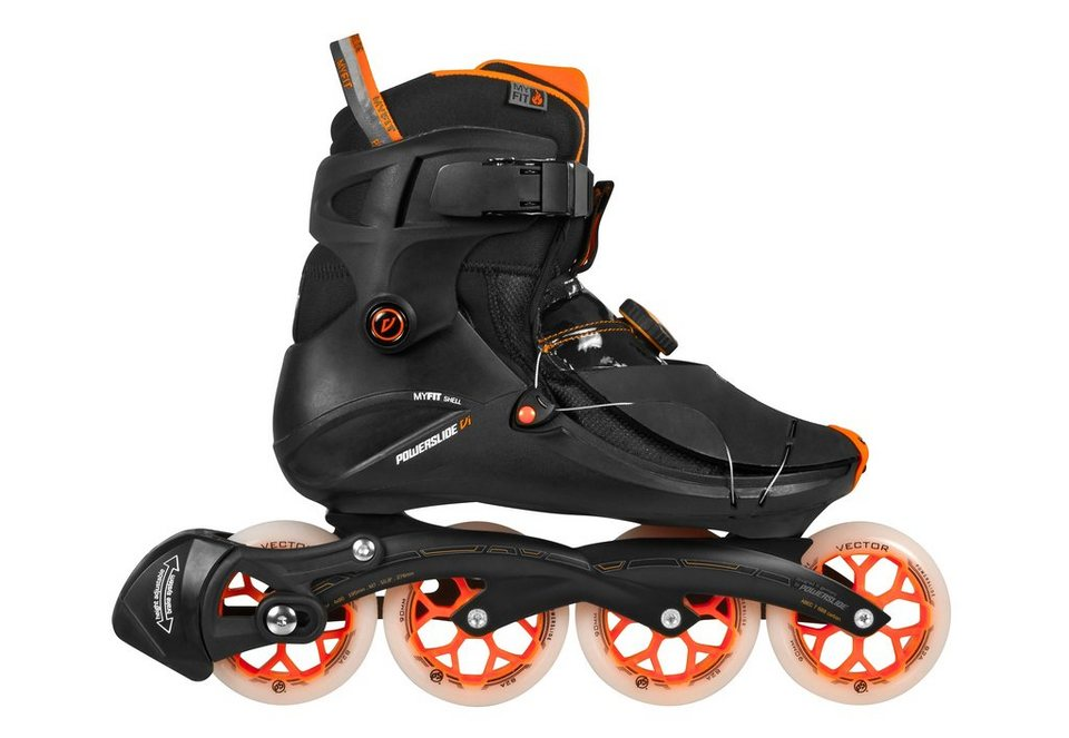 Powerslide Inline Skates Herren, »VI Flyte Men« in schwarz-orange