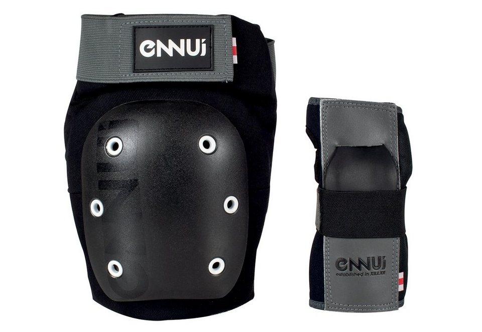 Ennui Schutzset, Knieschutz, Handgelenksschutz, »Street Dual Pack« in schwarz