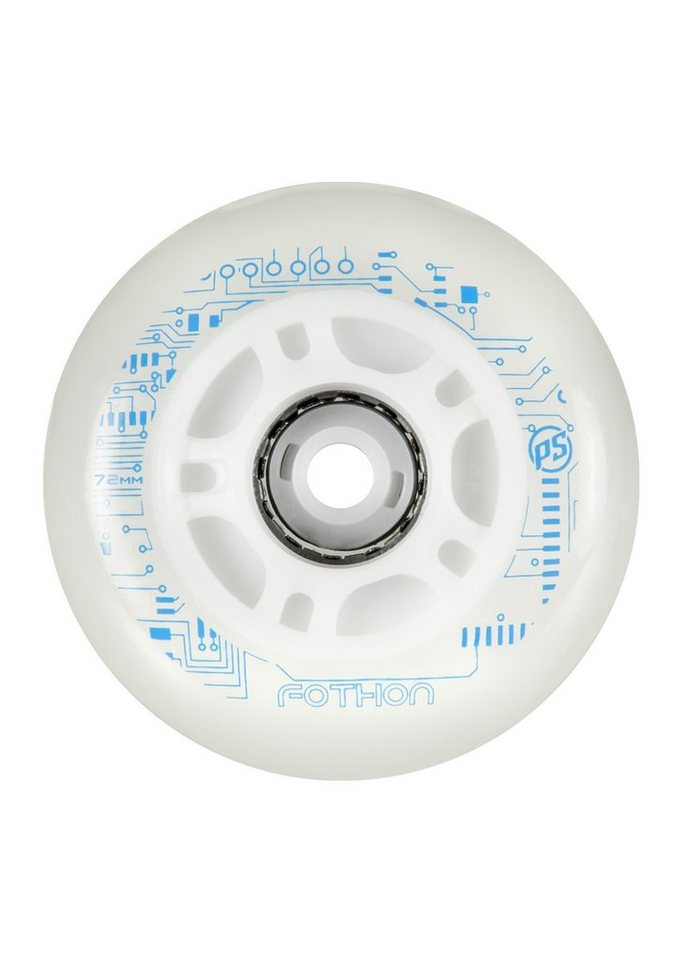 Powerslide Leuchtrollen, »Fothon Wheels«, 4er Pack in weiß