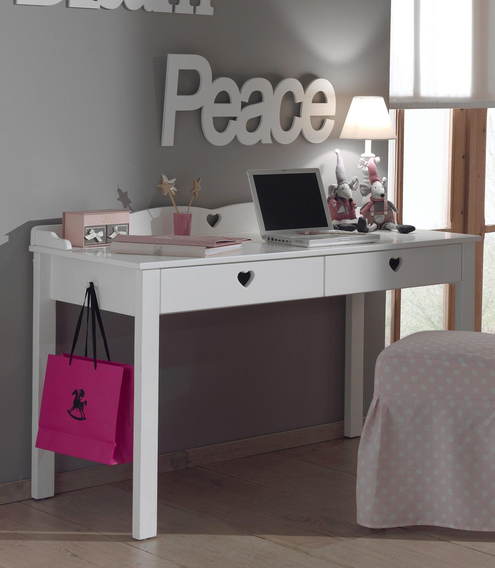 Vipack Furniture Schreibtisch »Amori« | Büro > Bürotische > Schreibtische | Weiß | Mdf | Vipack