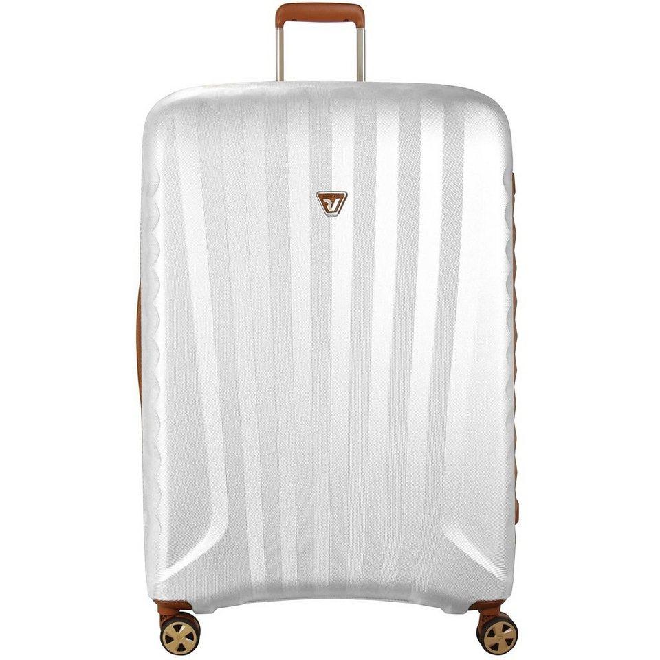 Roncato UNO ZIP Deluxe 4-Rollen Trolley 78 cm in cuoio perla finish