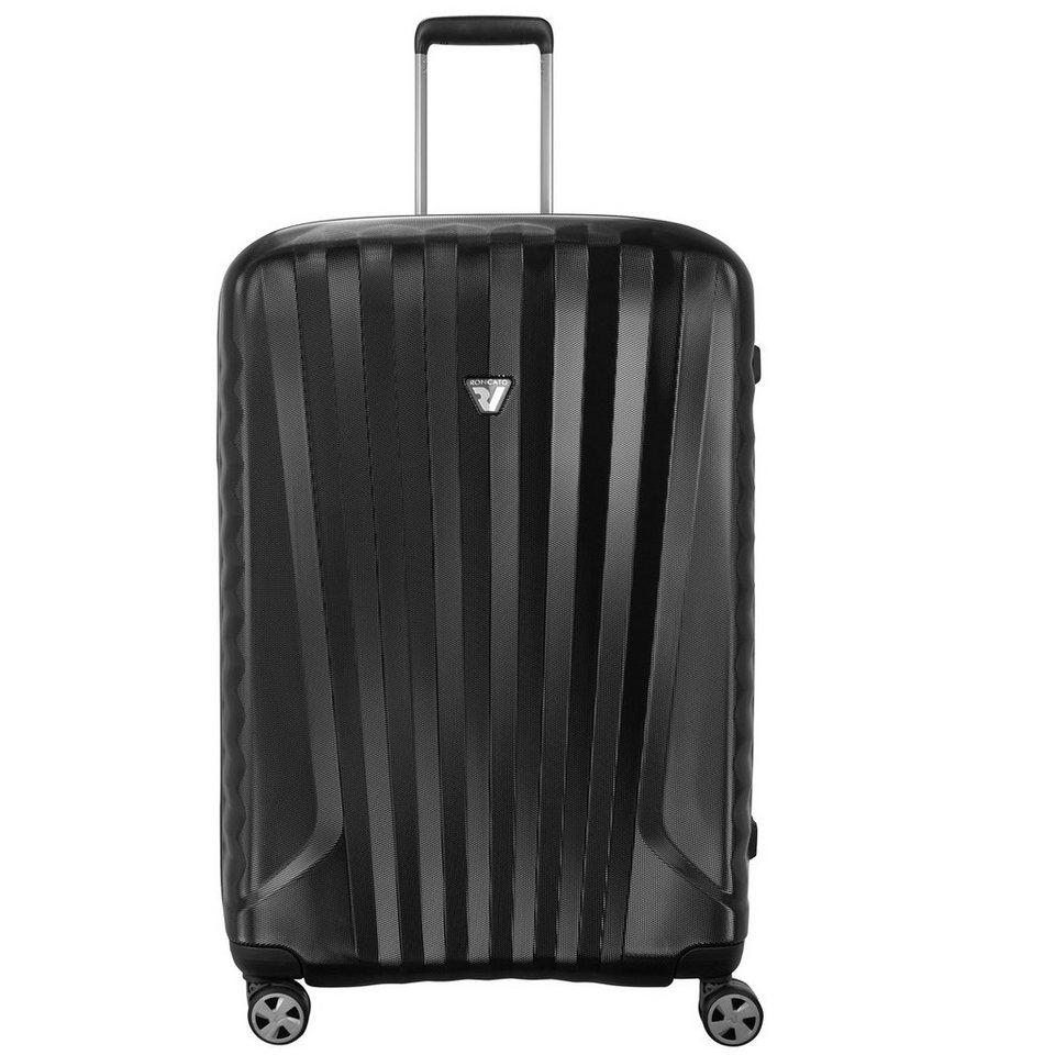 Roncato UNO ZSL Premium 4-Rollen Trolley 76 cm in nero nero