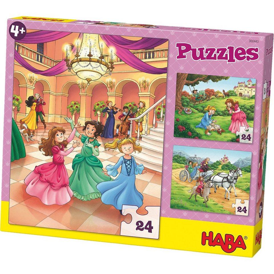Haba 3er Puzzle-Set - Prinzessin Mina - 24 Teile