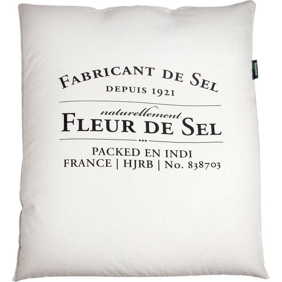 Sitzsack Classic, Canvas, fleur de sel in weiß