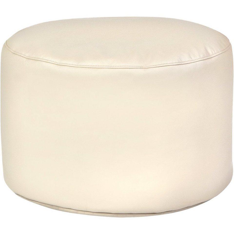 Sitzsack Drum, Kunstleder, beige in beige