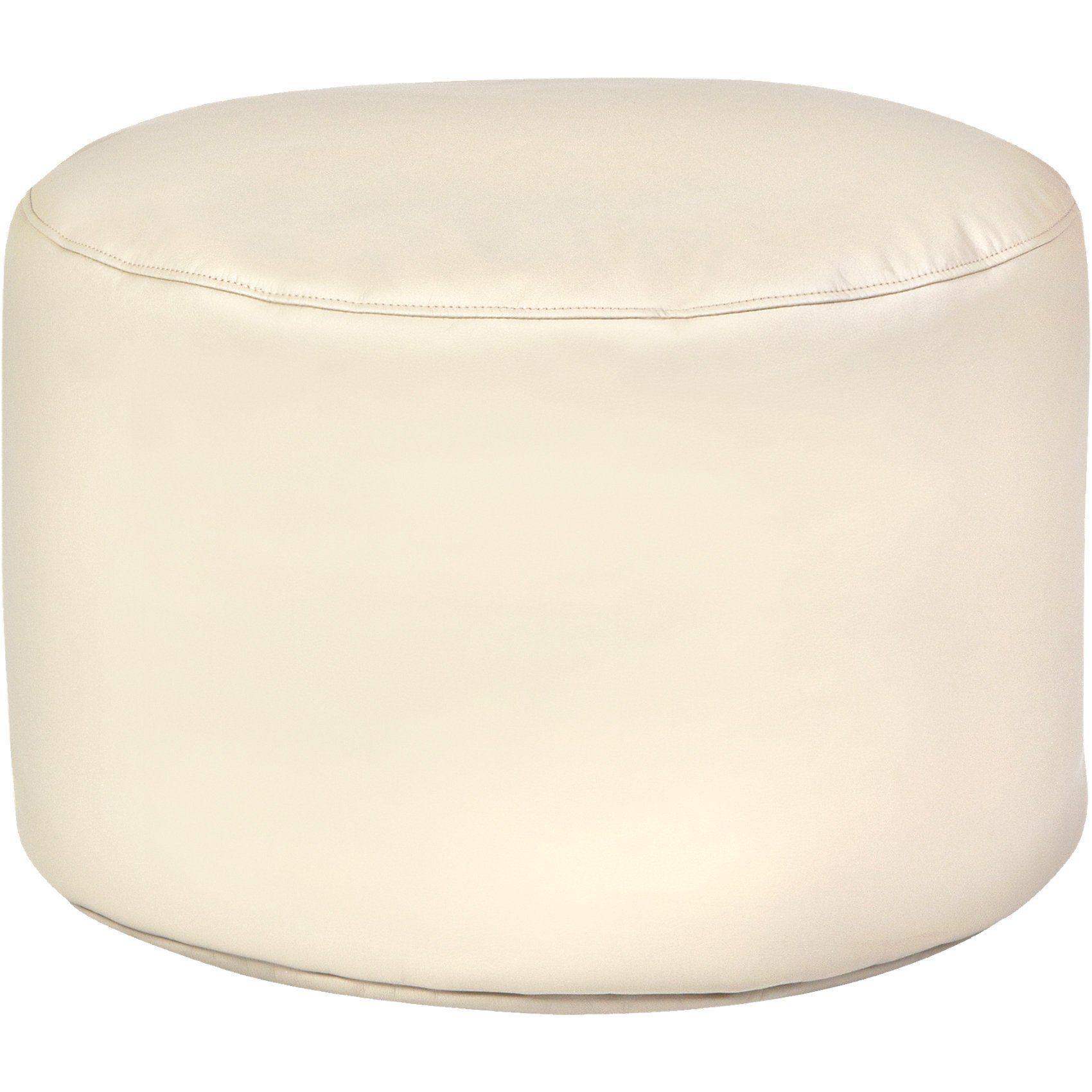 Sitzsack Drum, Kunstleder, beige