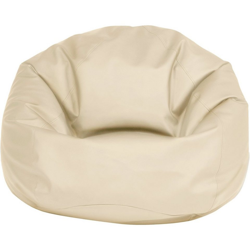 Sitzsack BAG 300, Kunstleder, beige in beige