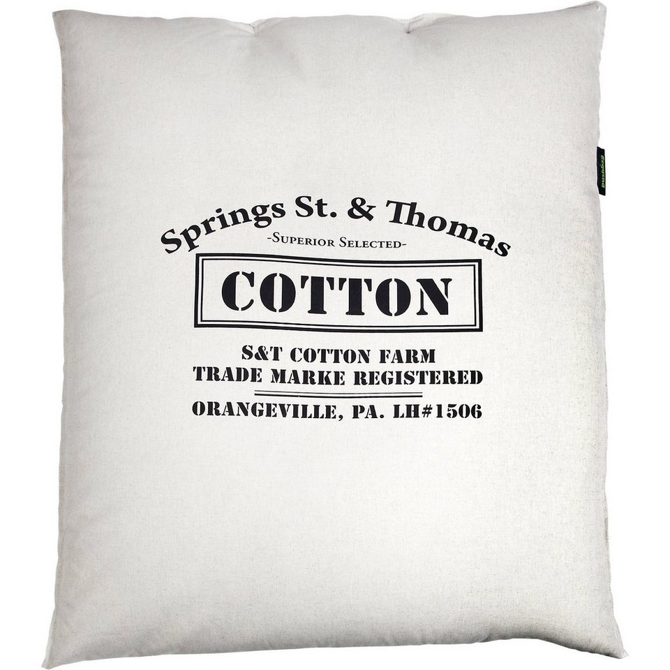 Sitzsack Classic, Canvas, cotton in weiß