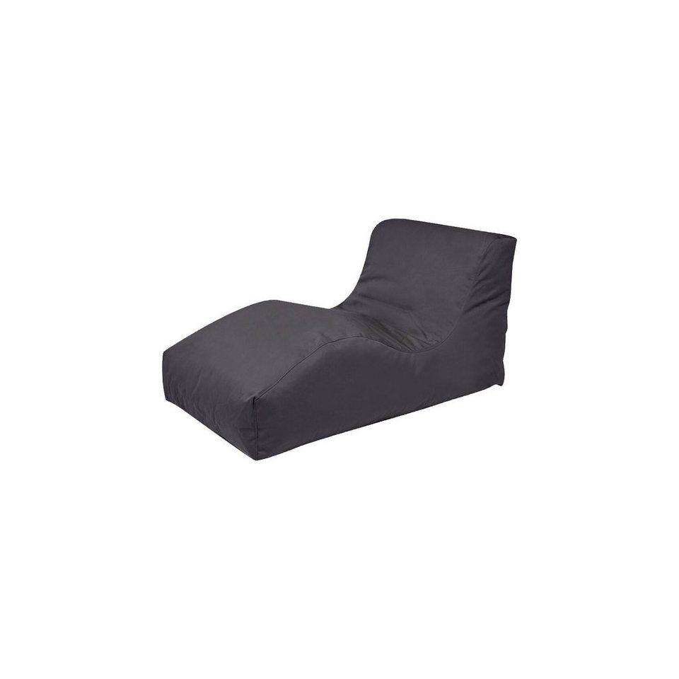 Outdoor-Sitzsack Wave, Plus, anthrazit in schwarz