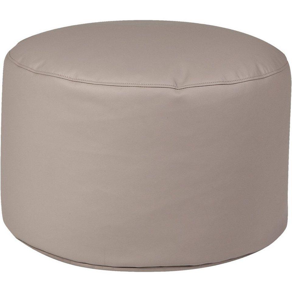 Sitzsack Drum, Kunstleder, taupe in grau