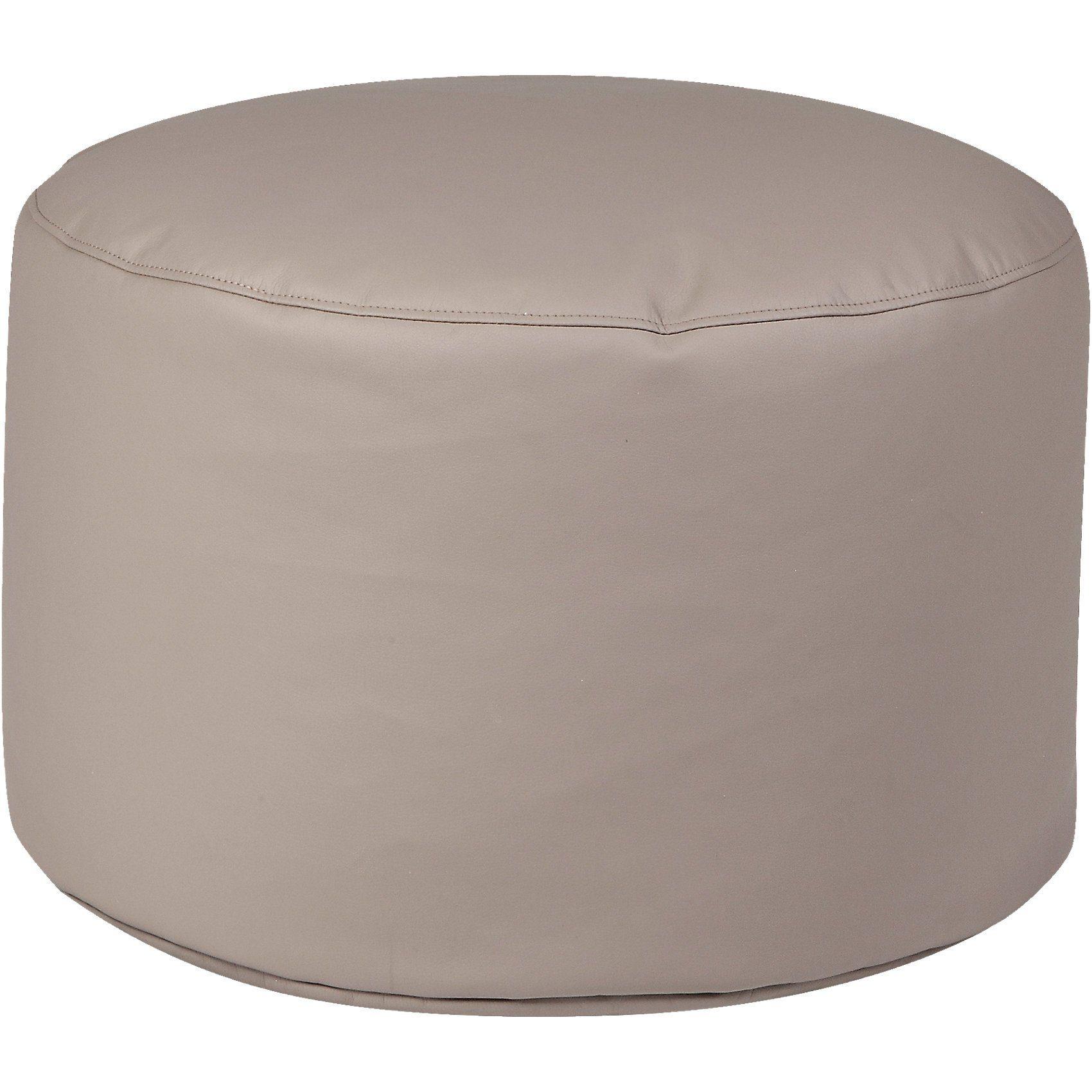 Sitzsack Drum, Kunstleder, taupe