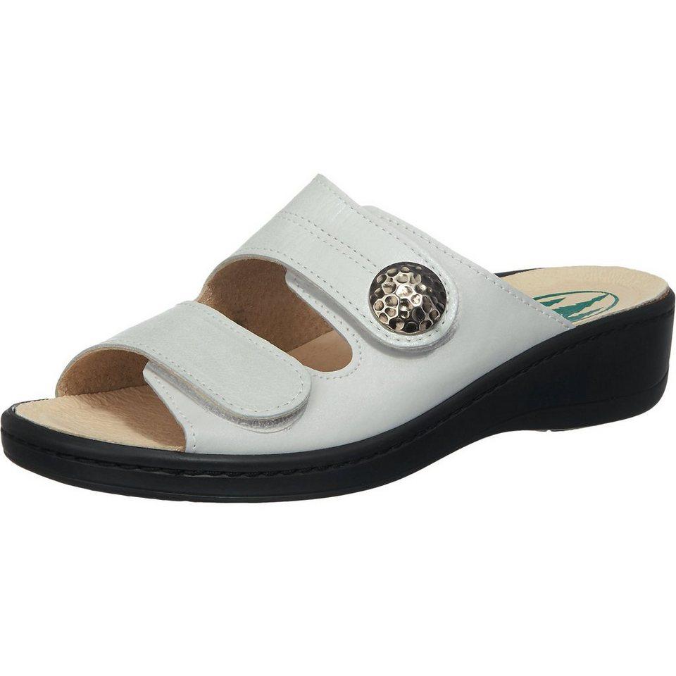 Franken-Schuhe Pantoletten weit in weiß
