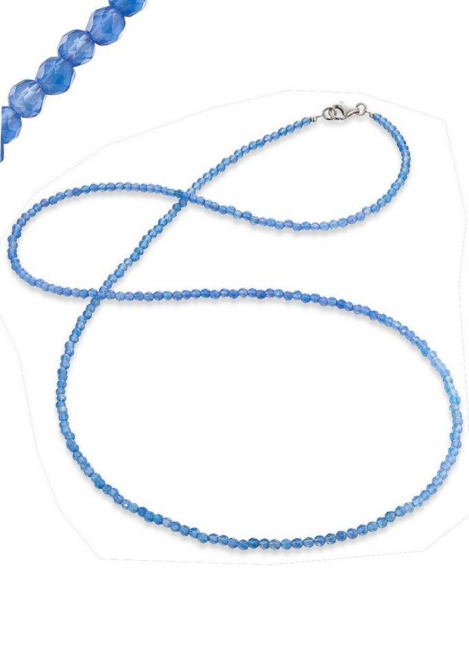 Engelsrufer Edelsteinkette blauer Achat, »ERN-80-BA« in blau