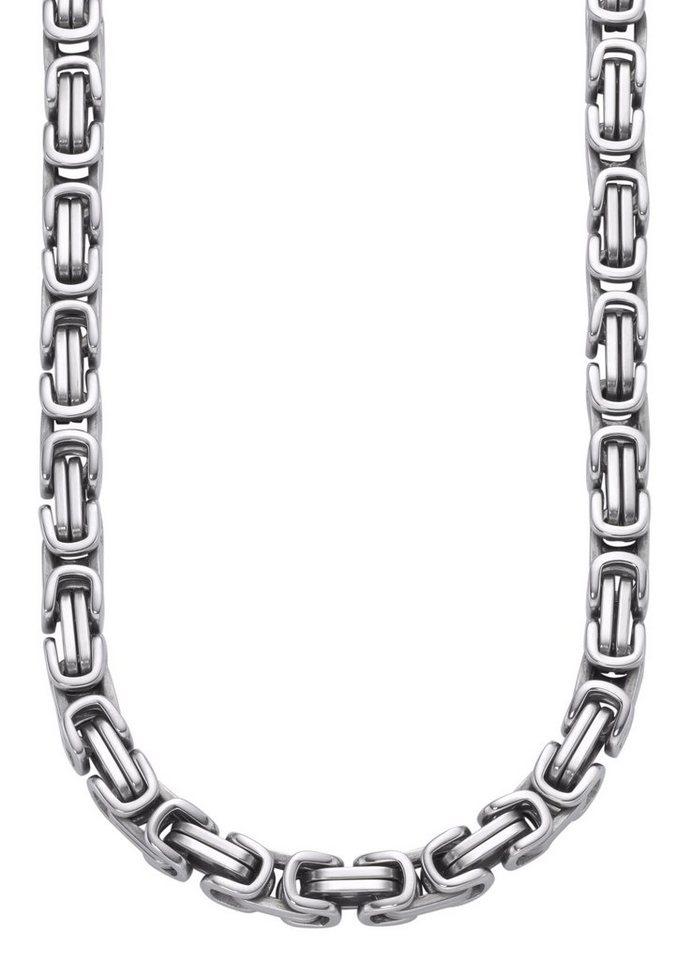 firetti Halsschmuck: Halskette in Königskettengliederung in silberfarben
