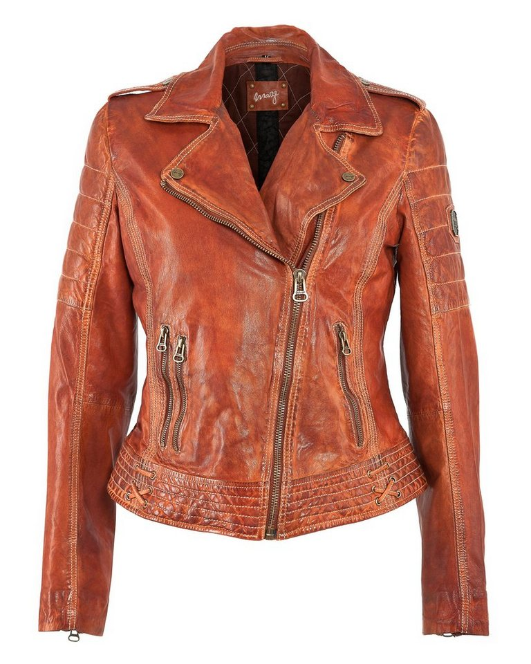 MAZE Lederjacke, Damen »Boras« in orange
