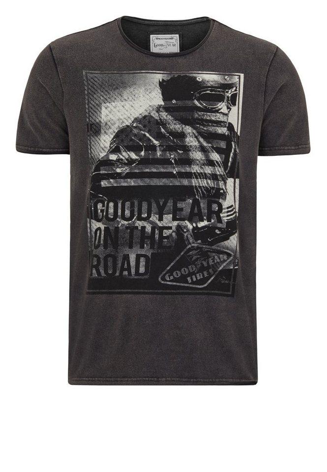 Goodyear T-Shirt »LOCKPORT« in Black