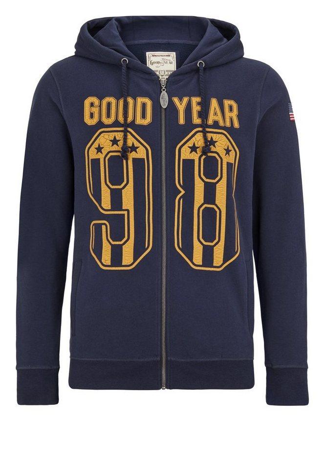 Goodyear Sweatjacke in Navy