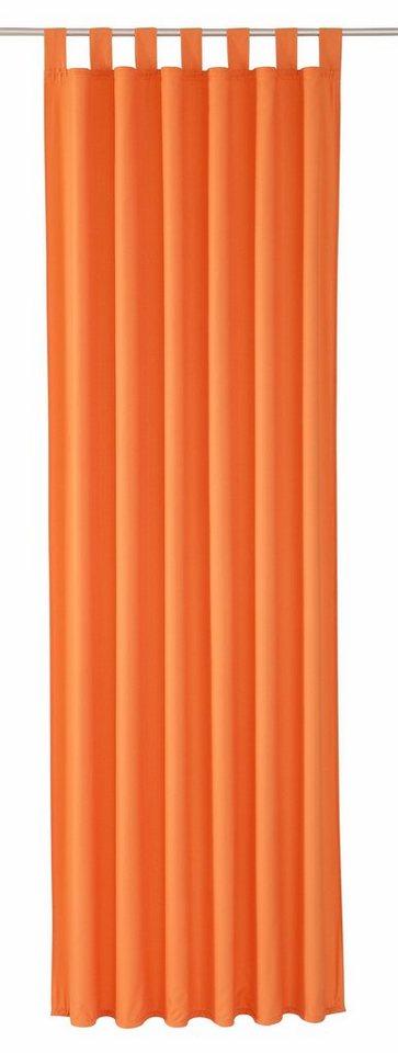 Vorhang, Weckbrodt-Gardinen, »Vito«, mit Schlaufen (1 Stück) in orange