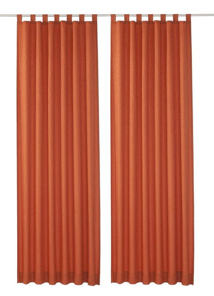 Vorhang, Wirth, »Lahnstein«, mit Schlaufen (2 Stück) in terra