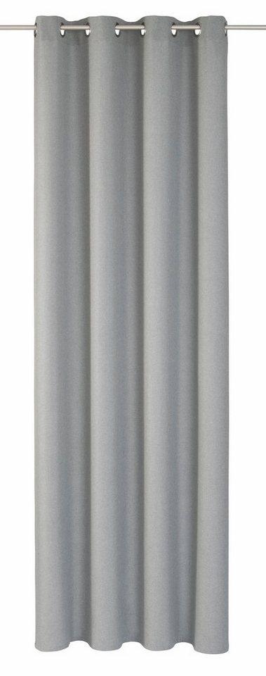 Vorhang, Elbersdrucke, »LINO« (1 Stück) in grau