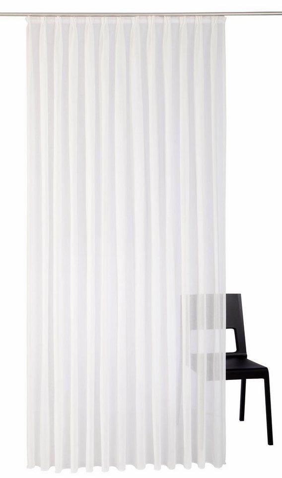 Vorhang, Wirth, »Audrey«, mit Faltenband (1 Stück) in weiß