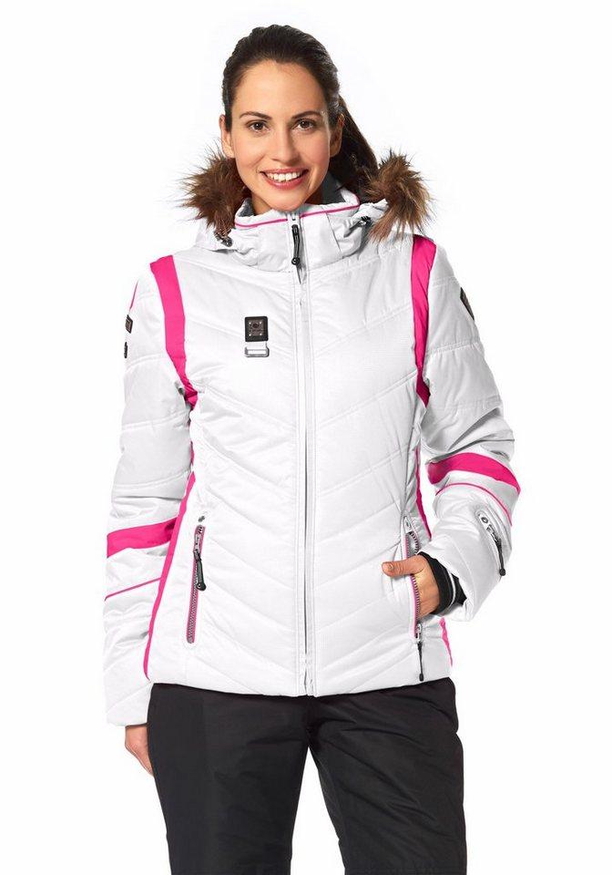Icepeak Skijacke in Weiß-Pink