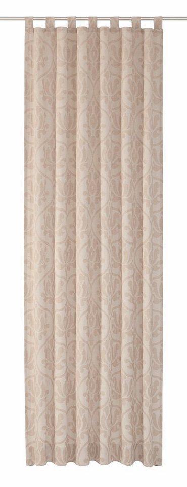 Vorhang, Wirth, »Medina«, mit Schlaufen (1 Stück) in beige