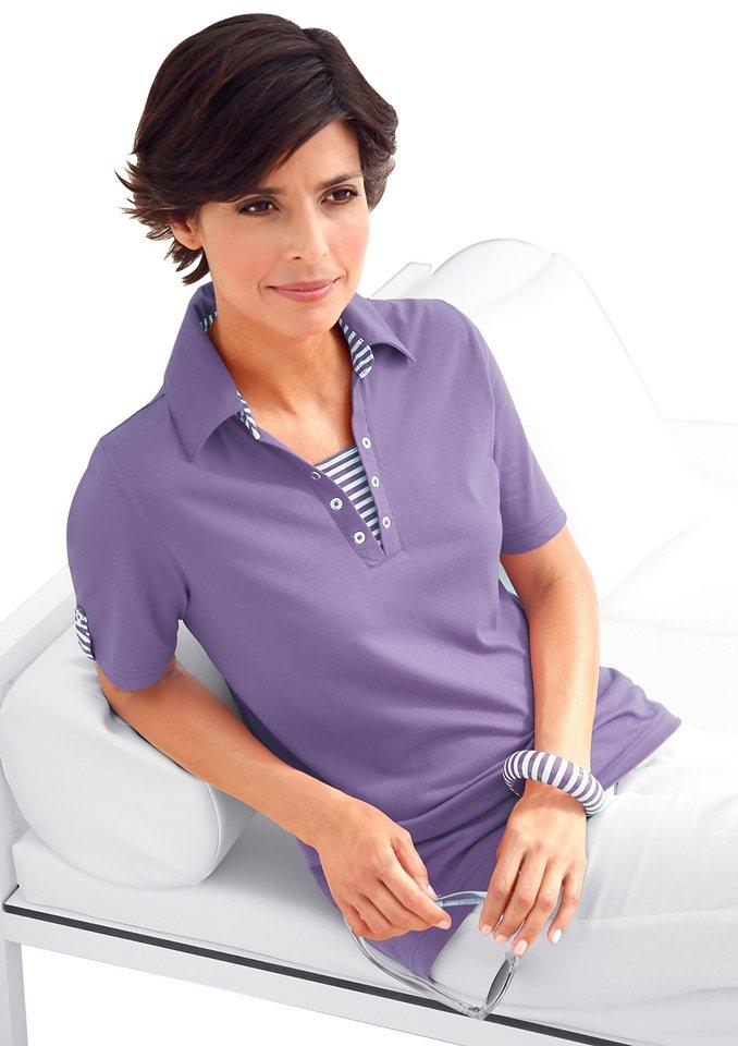 Collection L. Polo-T-Shirt mit kurzen Ärmeln in lavendel