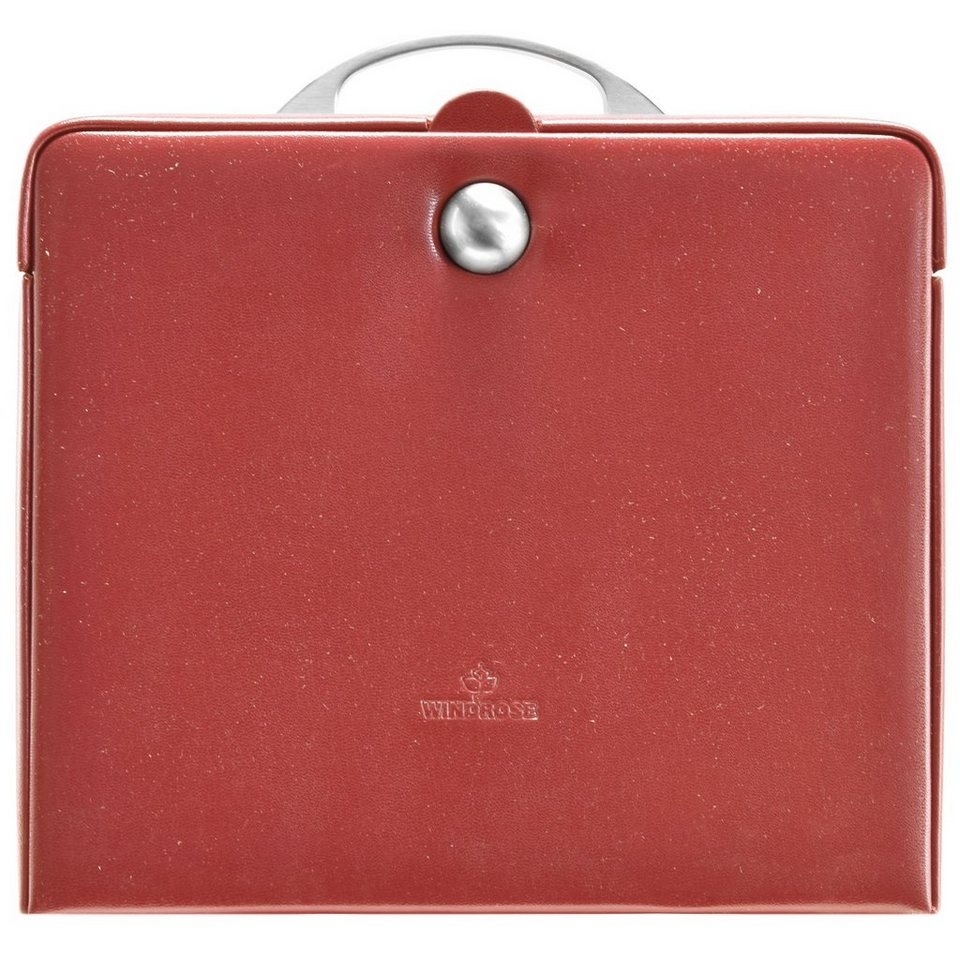 WINDROSE Merino Charmbox Schmuckkasten 25,5 cm in hellrot