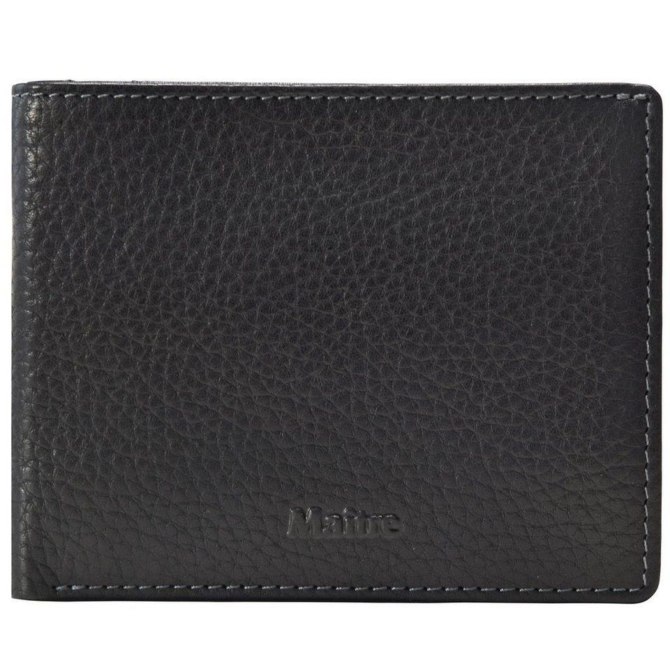 Maître Prado Geldbörse Leder 12 cm in black
