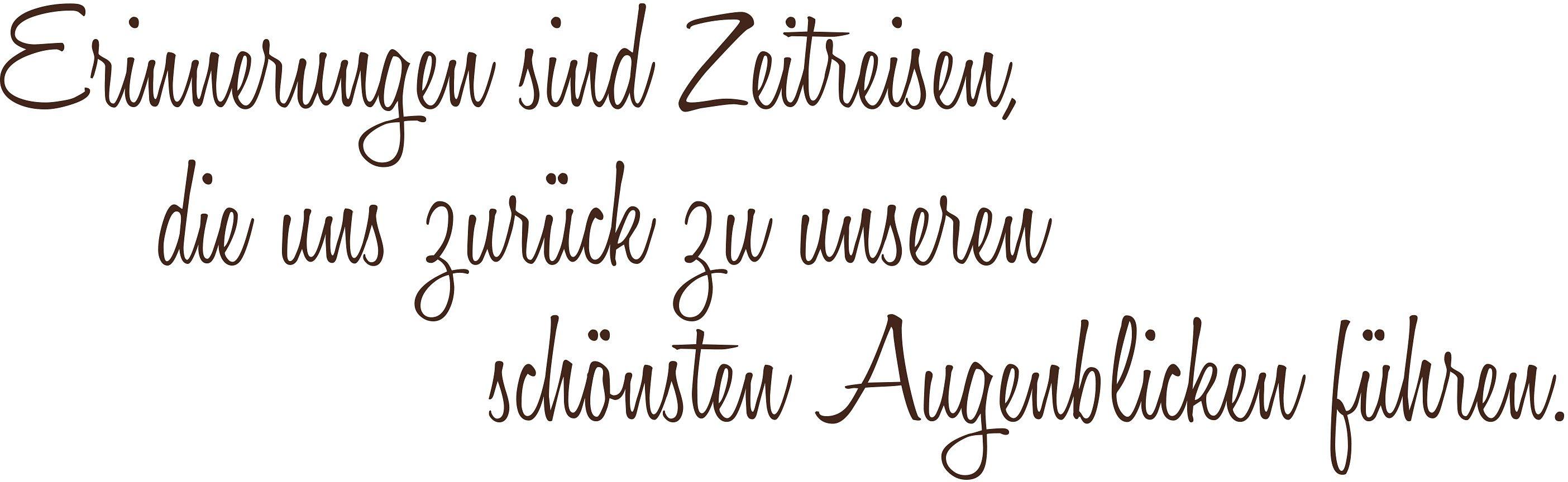 """Home affaire Wandspruch """"Erinnerungen sind ..."""", 120/40 cm"""