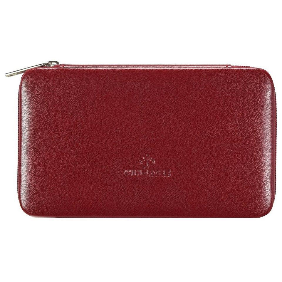 WINDROSE Merino Schmuckbox 18,5 cm in rot