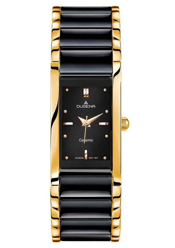 Dugena Quarzuhr »4460591« in schwarz-goldfarben