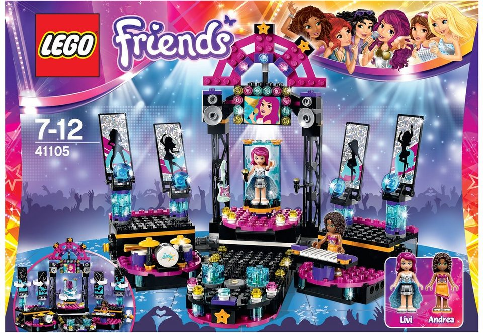 LEGO® Popstar Showbühne, (41105), »LEGO® Friends«