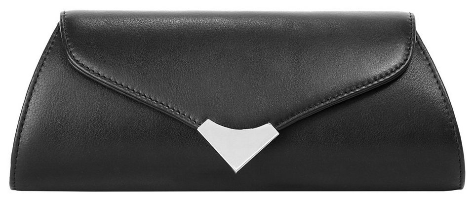Eastline Leder Damen Clutch in schwarz