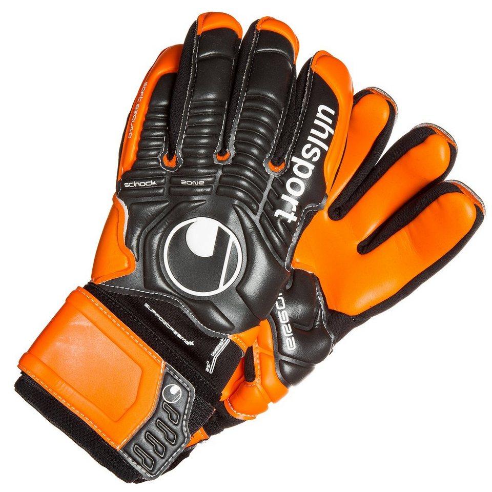 UHLSPORT Ergonomic HN Soft SF+ Torwarthandschuh in schwarz/orange
