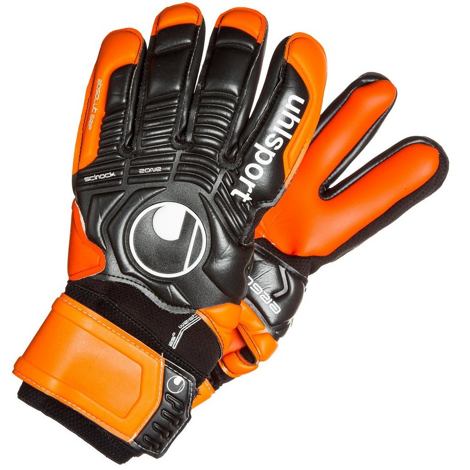 UHLSPORT Ergonomic Absolutgrip HN Torwarthandschuh in schwarz/orange