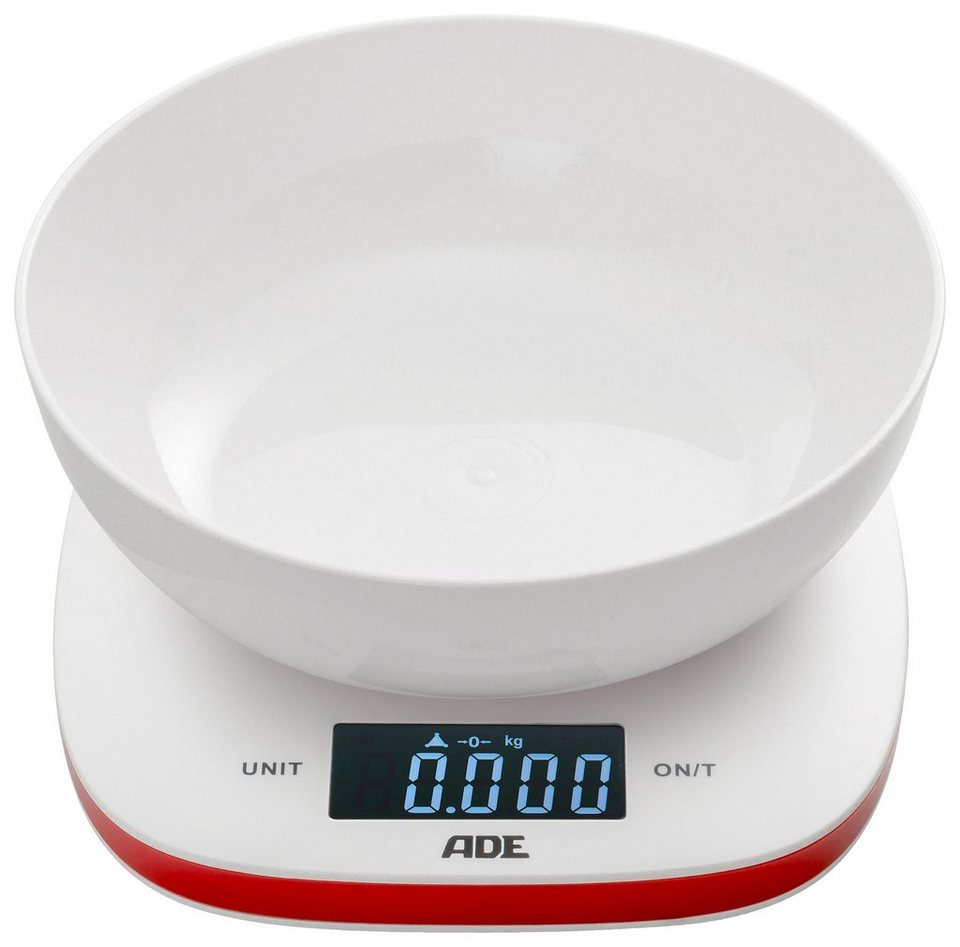 ADE Digitale Schüsselwaage »KE1412 Amelie« in weiß-rot