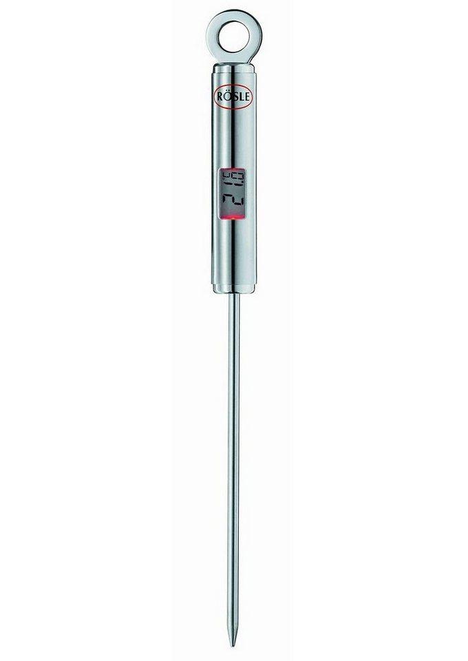 RÖSLE Gourmet-Thermometer in silberfarben