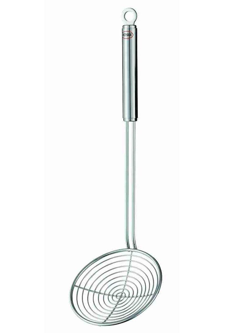RÖSLE Grill- und Buffet-Seihlöffel, 38,5 cm Edelstahl
