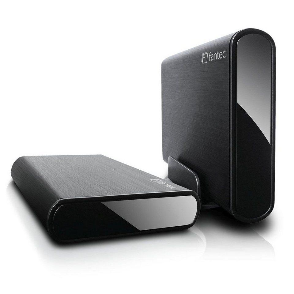 FANTEC Festplattengehäuse » DB-ALU3e-6G schwarz USB 3.0 eSATA (1693)« in schwarz