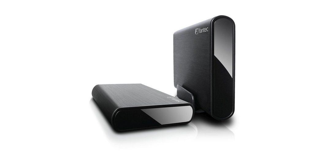 FANTEC Festplattengehäuse » DB-ALU3e-6G schwarz USB 3.0 eSATA (1693)«