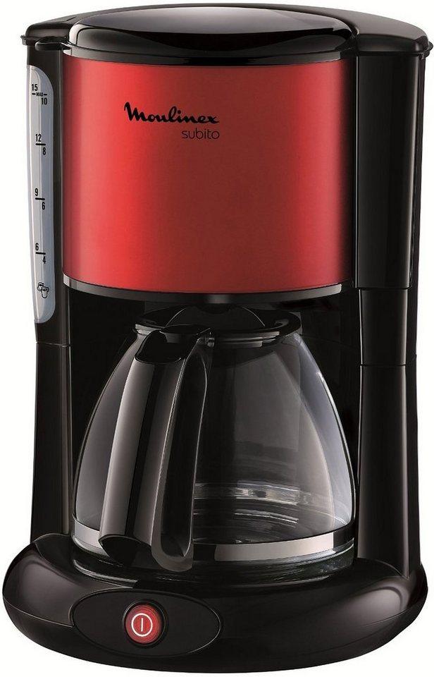 Moulinex Kaffeemaschine FG360D Subito für 1,25 Liter, 1000