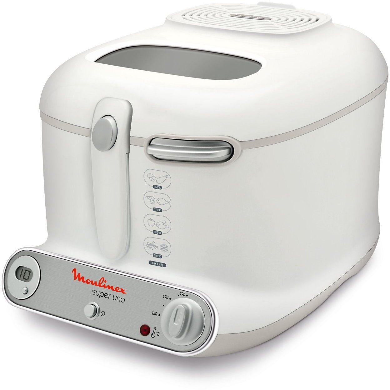 Moulinex Fritteuse AM3021, Füllmenge 2,2 Liter, wärmeisoliertes Thermogehäuse, 1800 Watt