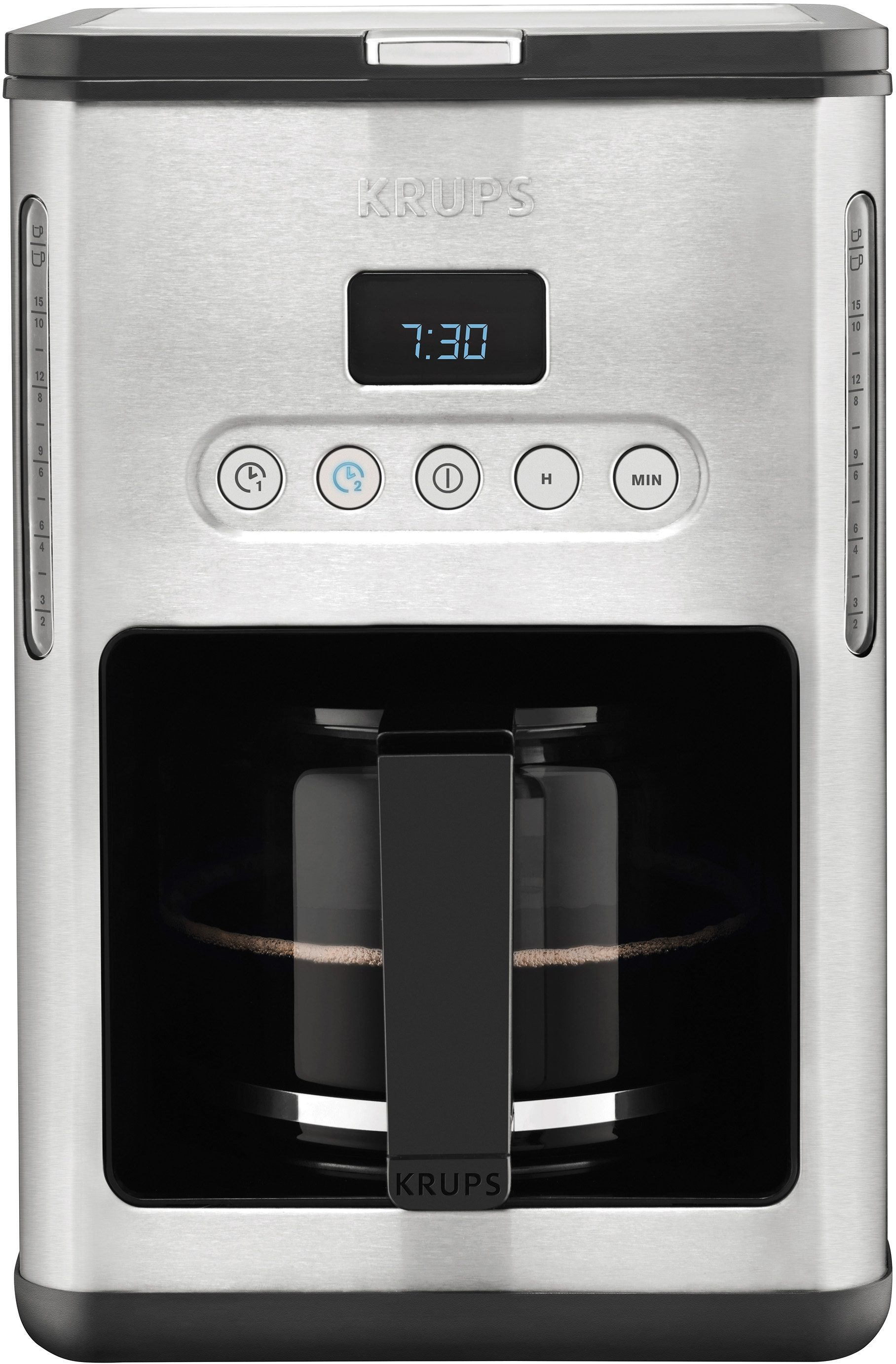Krups Filterkaffeemaschine KM442D, 1,25l Kaffeekanne, Papierfilter 1x4, mit Keep Warm-Funktion