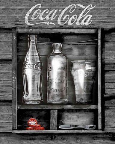home affaire deco panel coca cola black box 40 50 cm online kaufen otto. Black Bedroom Furniture Sets. Home Design Ideas