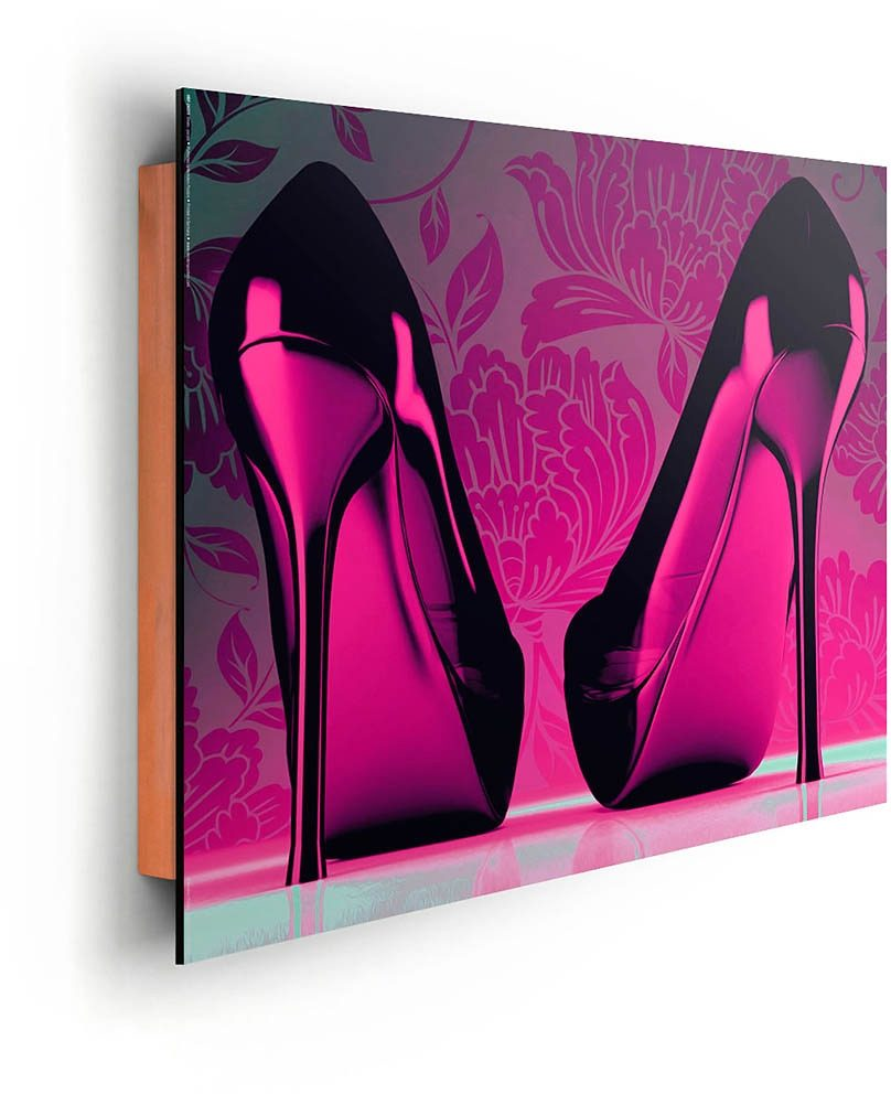 Home affaire, Deco Panel »Schuhe - Pink« 50/40 cm