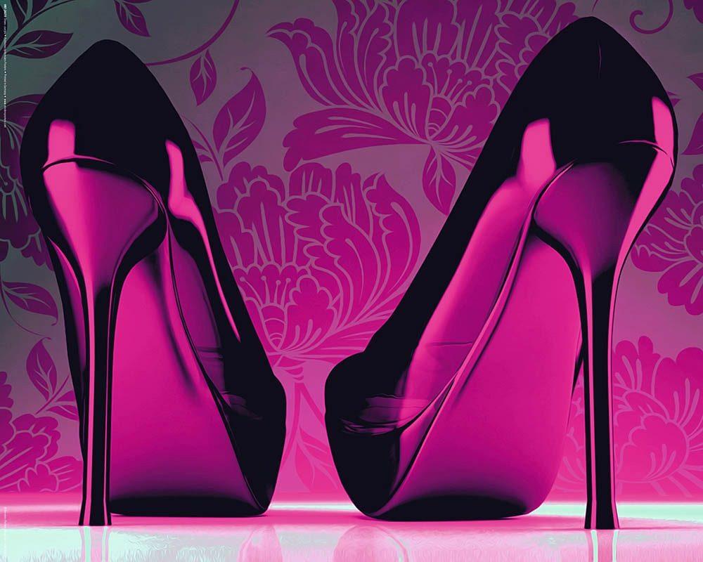 Home affaire, Deco Panel »Schuhe - Pink« 50/40 cm
