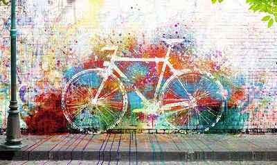 Schon Home Affaire Deco Panel »Wo Ist Das Fahrrad?«, Fahrrad