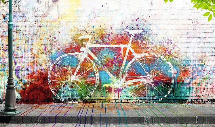Home affaire Deco-Panel »Wo ist das Fahrrad?«, Fahrrad